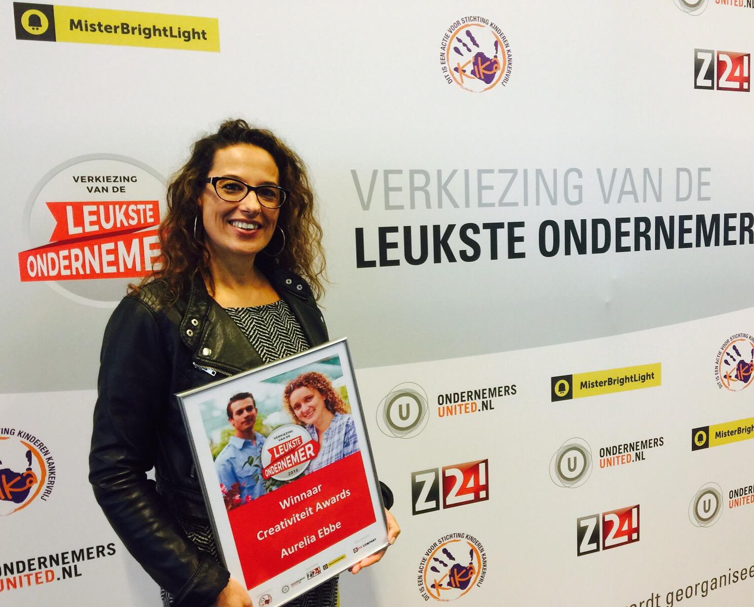 Aurelia Ebbe Winnaar Landelijke Creativiteit Award 2015