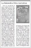 """En el Suplemento Cultural """"La Palabra"""" · 02-04-2016"""