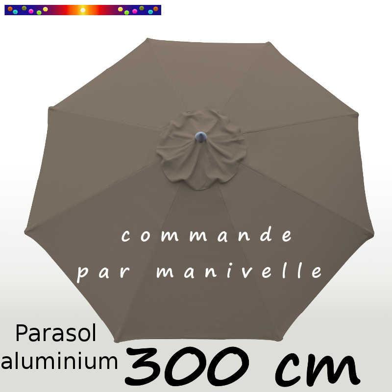 la boutique du parasol parasol modele lacanau ocean couleur taupe