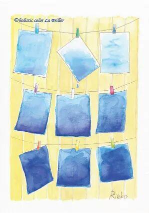 今日のテーマカラー:青「自由に楽しむ」