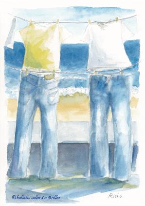今日のテーマカラー:青「自由に思い描く」
