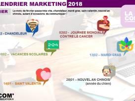 calendrier Marketing février 2018