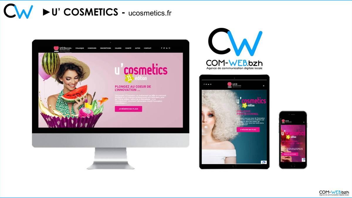Site web UCOSMETICS par Com Web