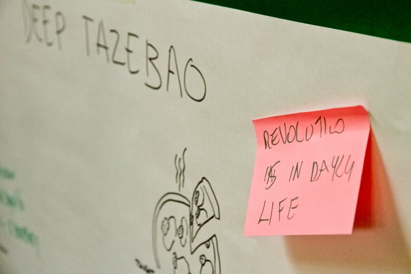 "La Cura Summer School: il Tazebao interconnettivo ""Revolution is in daily life"""
