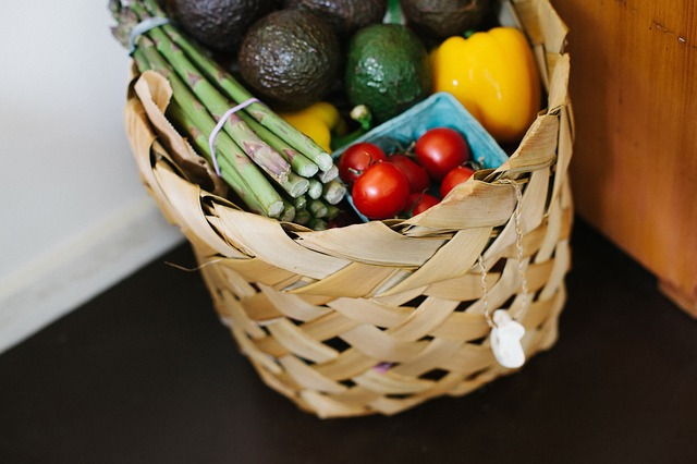 Basket Groceries Vegetables Fruits