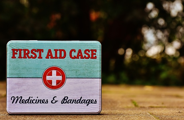 First Aid Box Tin Can Sheet Color