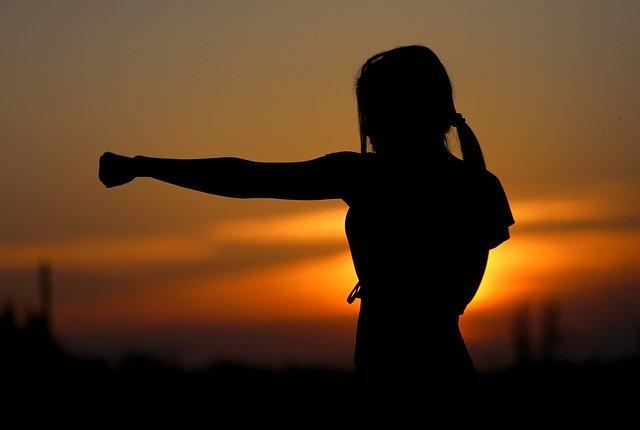 Karate Sunset Fight Sports