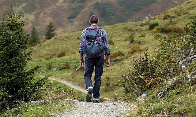 Wanderer Backpack Hike Away Path