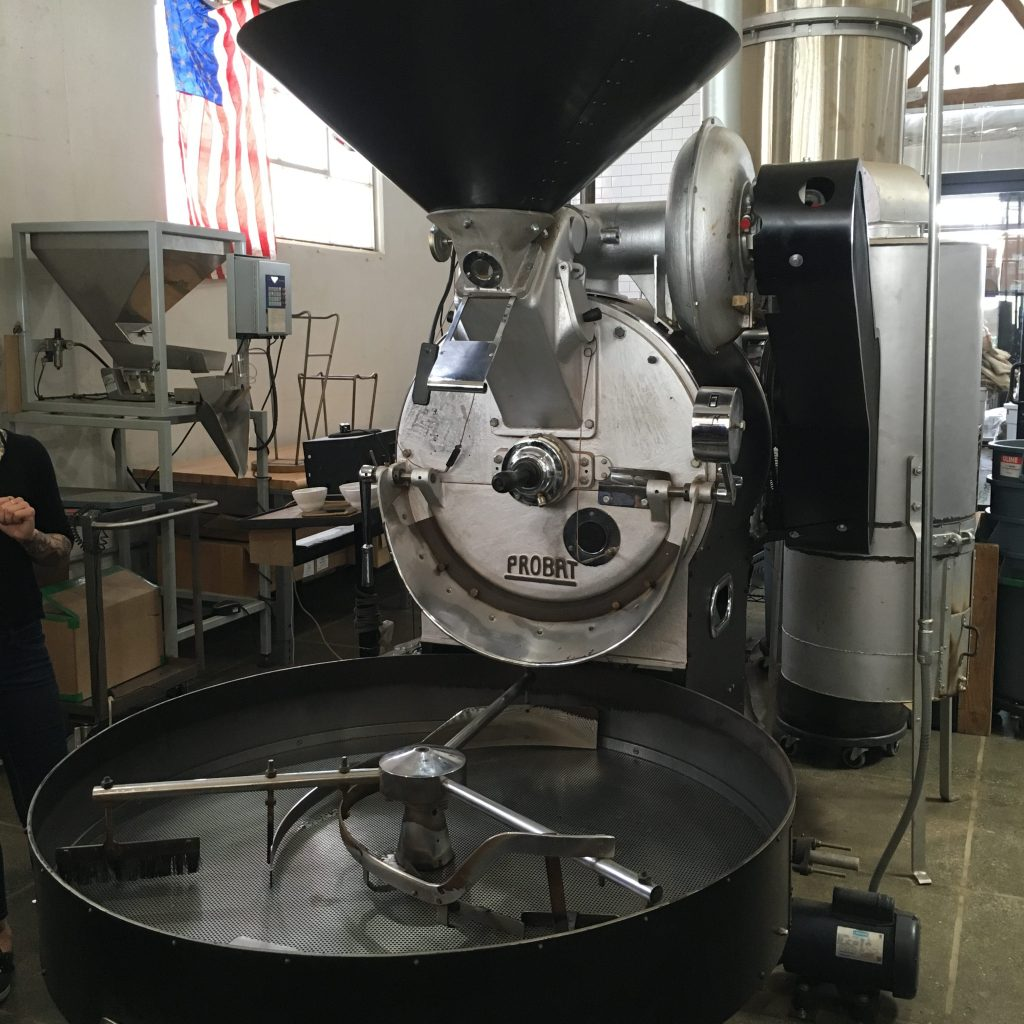 Taking the Roastery Tour at Blue Bottle Coffee