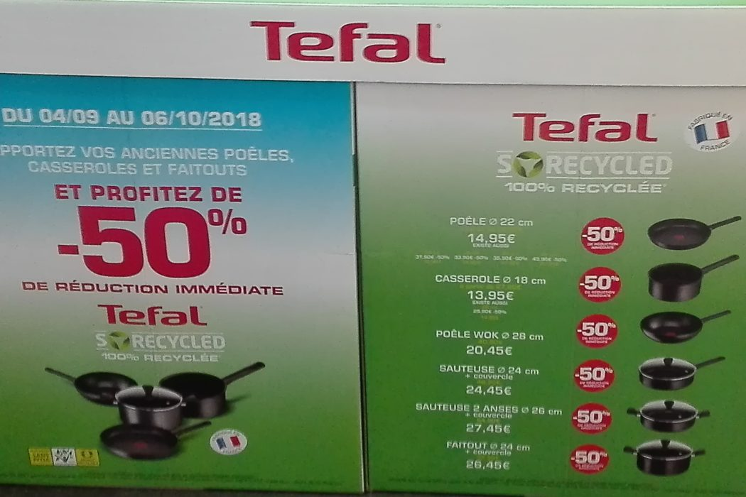 tefal so recycled une gamme a partir