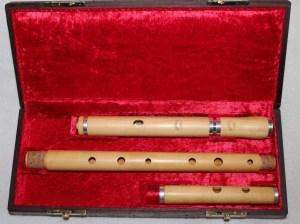Boite palissandre flûte buis