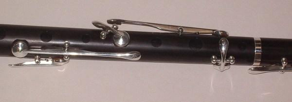 Flûte clé gros plan