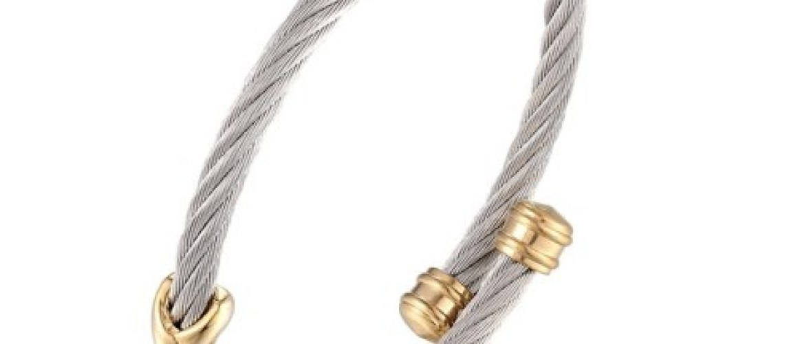 Bracelet torsadé taille réglable