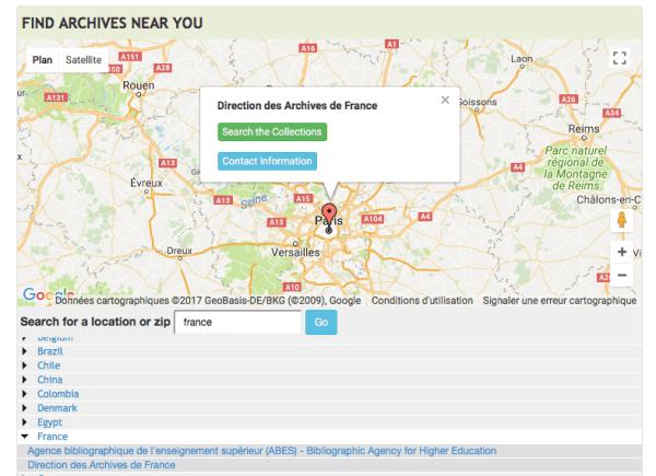 portail généalogique, archives grid, data finder