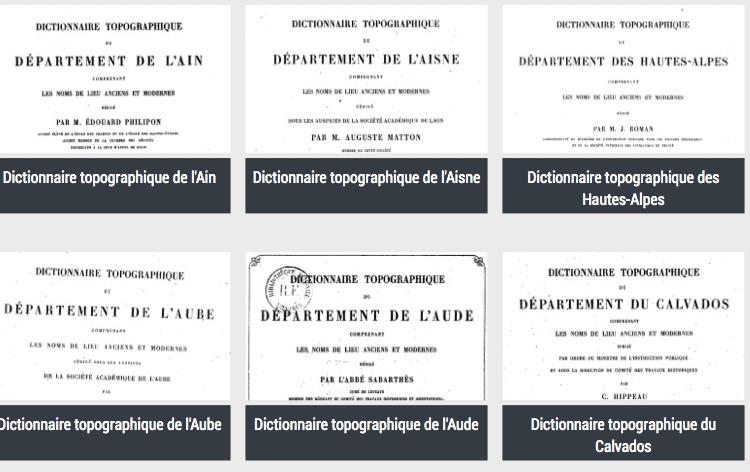 gallica, généalogie, dictionnaires, France