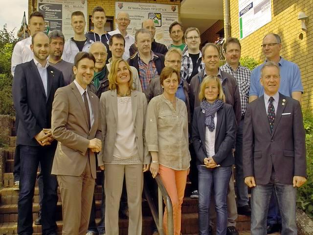 Vereinsheim-Delegation