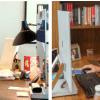 Melinda y Bill Gates frente a sus computadoras