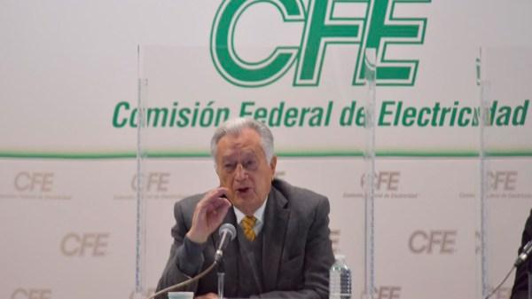 Manuel Barlett, titular de la CFE.