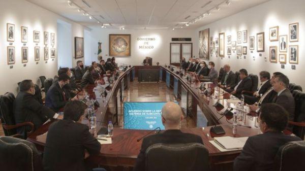 amlo-reunion-empresarios-sindicatos-subcontratacion