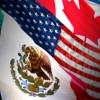 Foto banderas de México, EU y Canadá