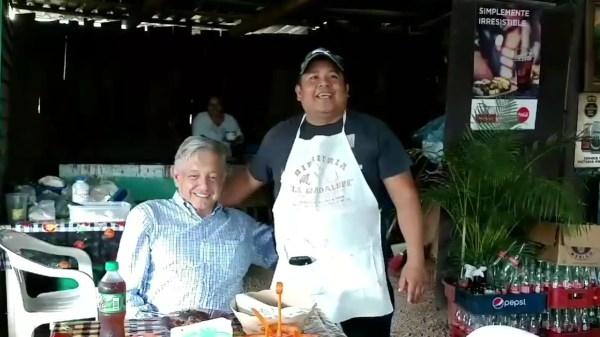 AMLO y Margarito Gálvez