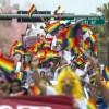 Foto de marcha del orgullo lgbtq en Florida