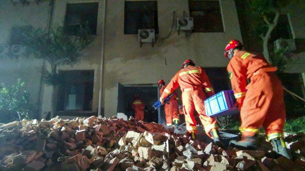 China hotel derrumbe