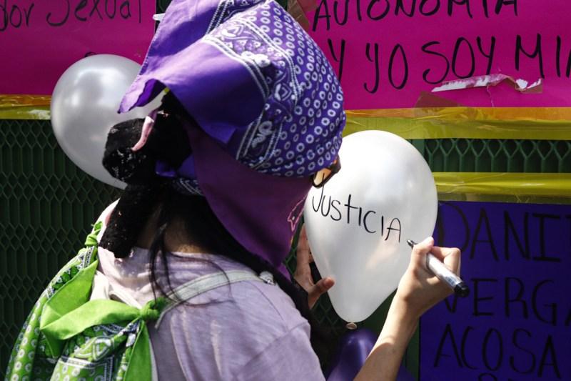 Manifestación abogado Daniel