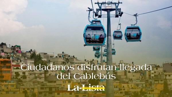 Ciudadanos disfrutan llegada del Cable Bus