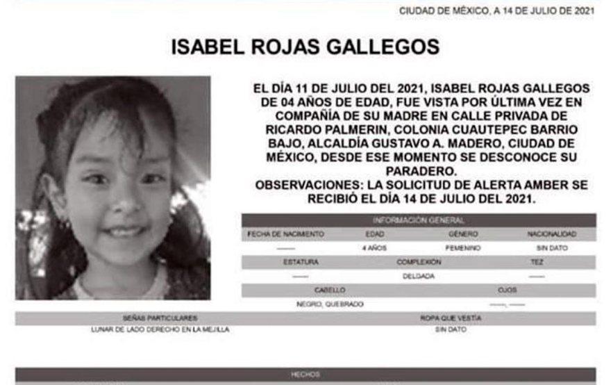 Isabel tenía cuatro años al momento de su desaparición