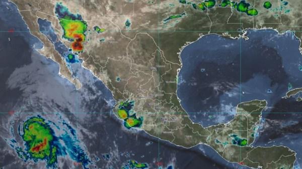 Foto satelital del paso de la tormente tropical guillermo