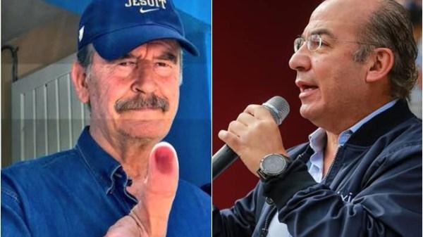 Foto de los expresidentes Fox y Calderón para ilustrar nota sobre la consulta popular