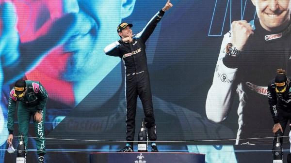 Foto del podio en el Gran Premio de Hungría