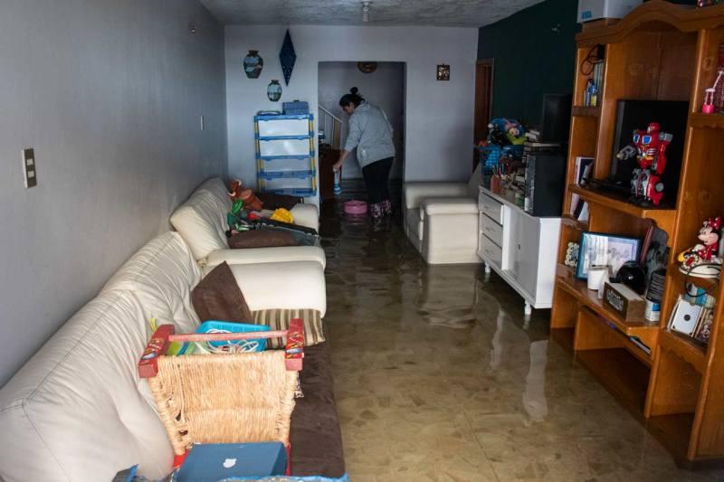 Las lluvias en Ecatepec dejaron inundaciones en casas