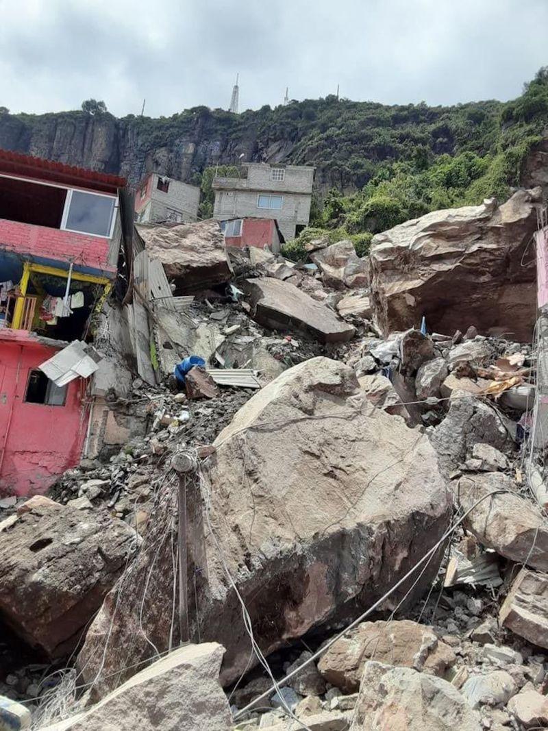 derrumbe cerro del Chiquihuite