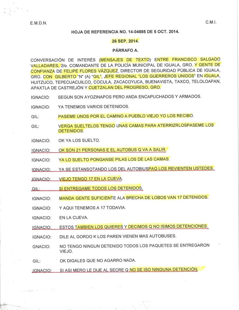 Ayotzinapa conversación comisión
