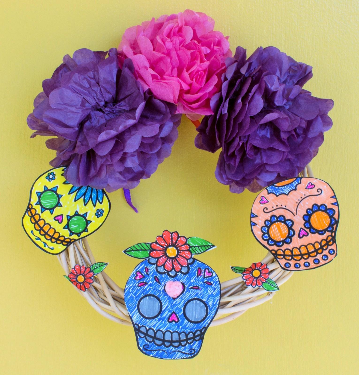 DYI Dia De Los Muertos Wreath
