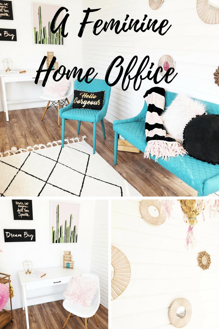 A Feminine Home Office