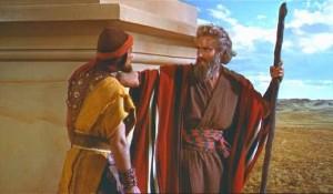 Moïse laissant la charge d'Israël à Josué