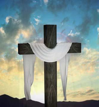 Croix de Pâques avec suaire