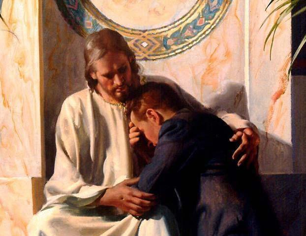 Jésus pardonnant à un pécheur