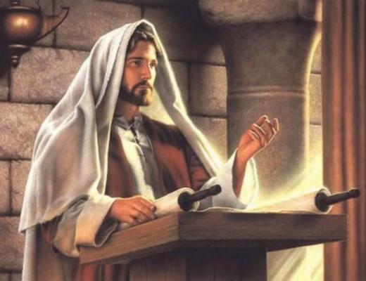 Jésus à la lecture des tables d'Habacuc