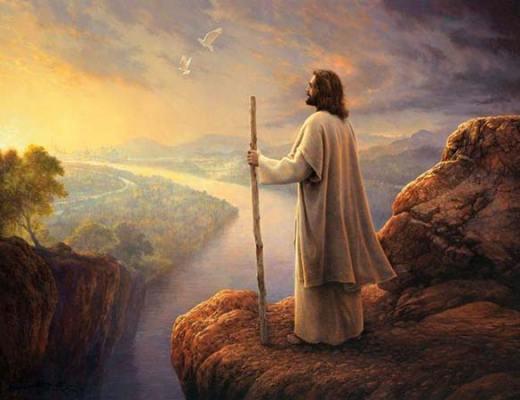 Jésus au bord de la falaise