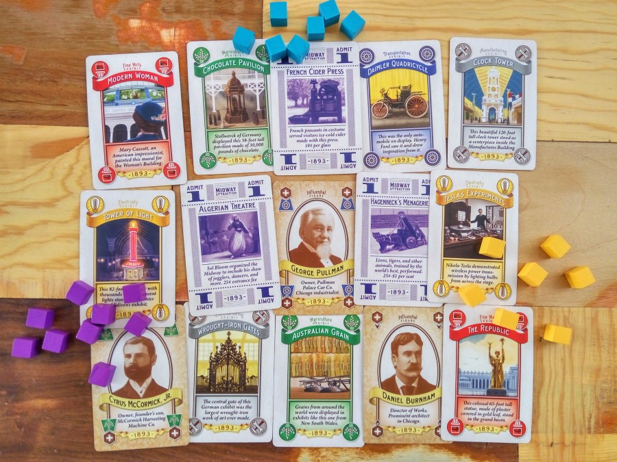 World's Fair 1893, cartas y cubos