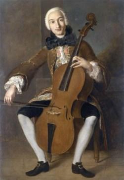 Boccherini jouant du violoncelle tableau de Pompeo Batoni wikimedia