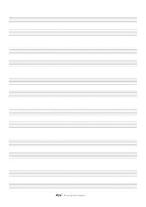 Papier a musique Portées piano