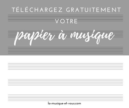 Papier a musique a telecharger gratuitement