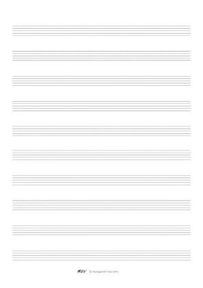 Papier a musique portée petites lignes