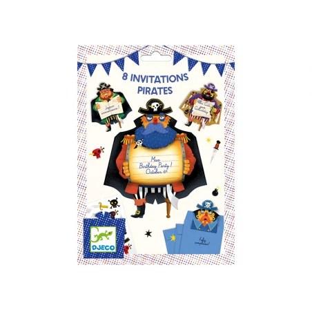 8 cartes d invitation anniversaire pirates fsc mix