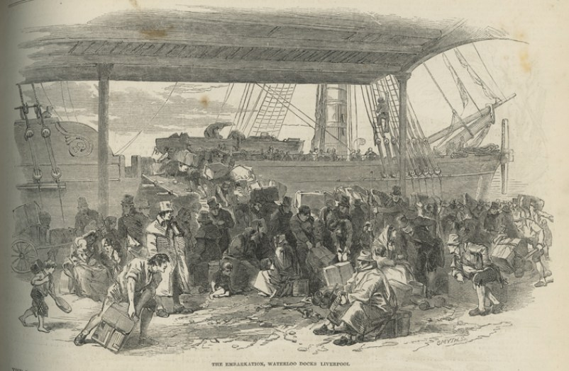 great famine patate emigrazione